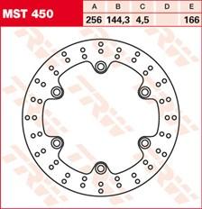 TRW MST disque de frein fixe MST450