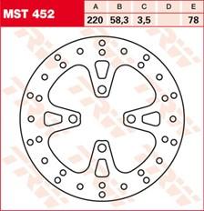 TRW MST vaste remschijf MST452