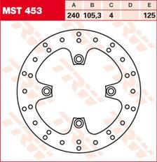 TRW MST disque de frein fixe MST453
