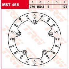 TRW MST disque de frein fixe MST456