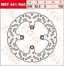 TRW Remschijf MST461RAC