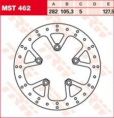 TRW MST vaste remschijf MST462