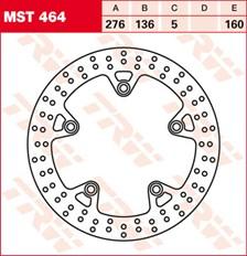 TRW Disque de frein MST464
