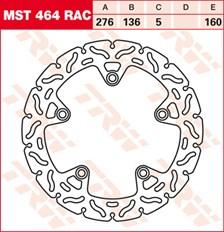 TRW MST vaste remschijf RAC design MST464RAC
