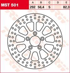 TRW MST vaste remschijf MST501