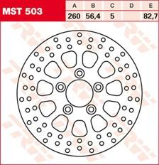 TRW MST disque de frein fixe MST503