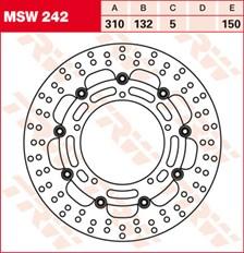 TRW Disque de frein MSW242