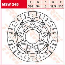 TRW MSW Zwevende remschijf MSW245