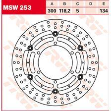 TRW MSW Disque de frein flottant MSW253