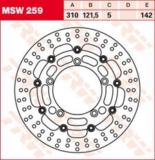 TRW MSW Disque de frein flottant MSW259