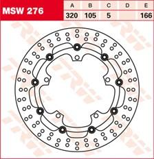 TRW Disque de frein MSW276