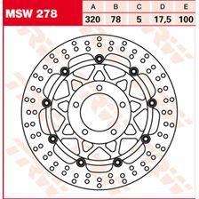 TRW MSW Zwevende remschijf MSW278