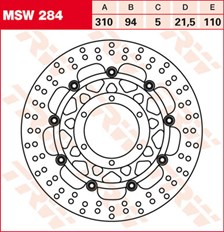 TRW Remschijf MSW284