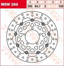 TRW Remschijf MSW286