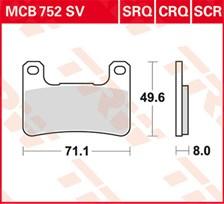 TRW Plaquettes de frein SCR MCB752SCR