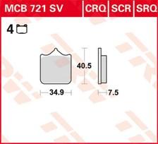 TRW SCR Remblokken MCB721SCR