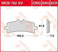 TRW Plaquettes de frein SCR MCB792SCR