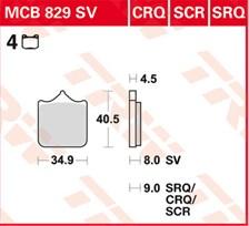 TRW Plaquettes de frein SCR MCB829SCR