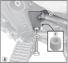 GIVI Crash bars en acier bas du moteur TN6401AKIT