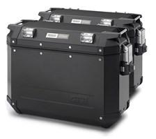 GIVI OBK Trekker Outback valises aluminium noir -2x 48 litres