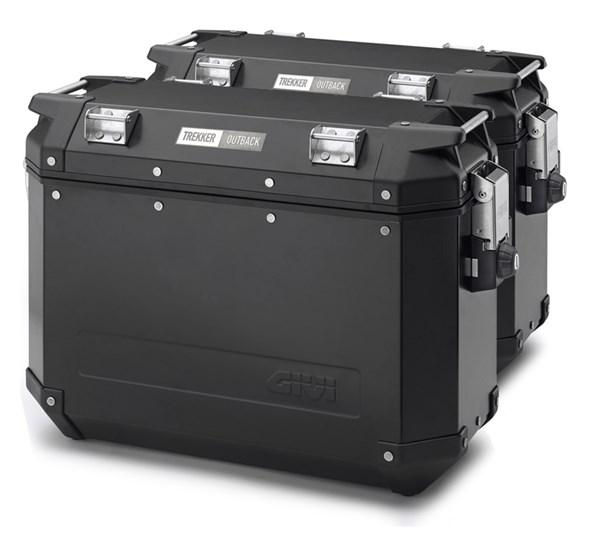 GIVI OBK Trekker Outback valises - 2x 48 litr aluminium noir -2x 48 litres