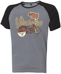 """HELD : T-Shirt """"Vintage"""" - Grijs-Zwart"""