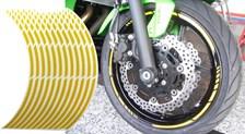Voorgevormde wiel stickers Geel reflecterend