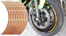 Voorgevormde wiel stickers Oranje reflecterend