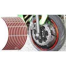 KEITI Voorgevormde wiel stickers Rood reflecterend