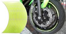 Voorgevormde wiel stickers Fluo geel