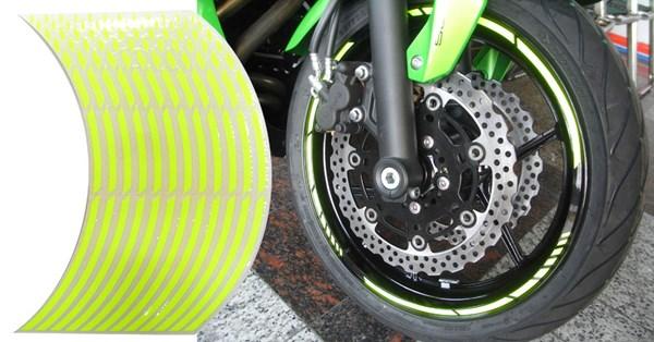 KEITI Voorgevormde wiel stickers Fluo geel
