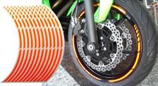 Voorgevormde wiel stickers Fluo Oranje