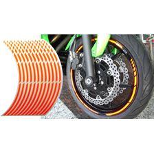 KEITI Liserets de jante pré-courbé Orange fluo