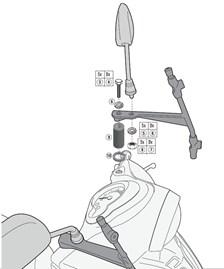 GIVI Kit de montage pour bulle A2114A