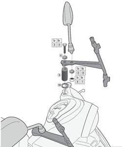 GIVI Kit de montage pour pare-brise