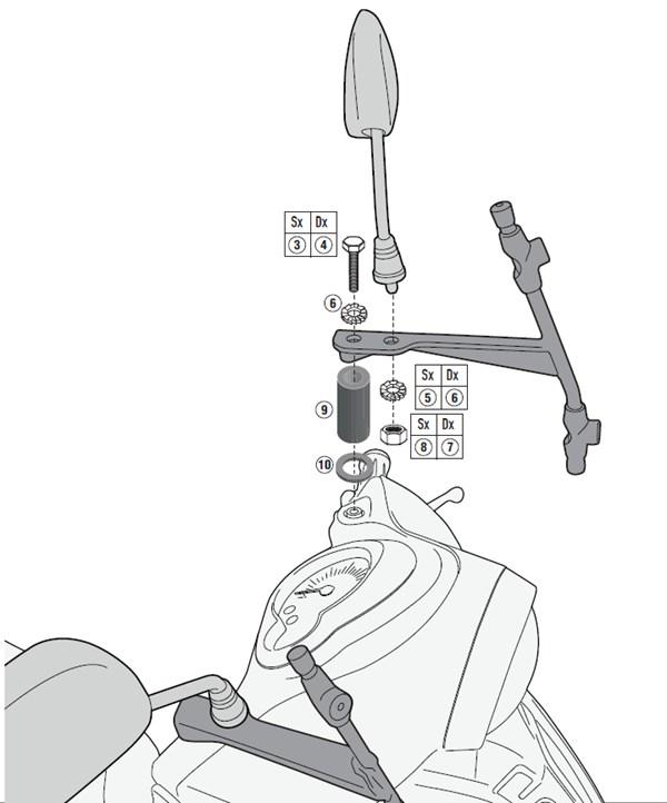GIVI Bevestigingskit windscherm A2114A
