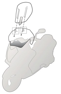 GIVI Pare-brise airflow