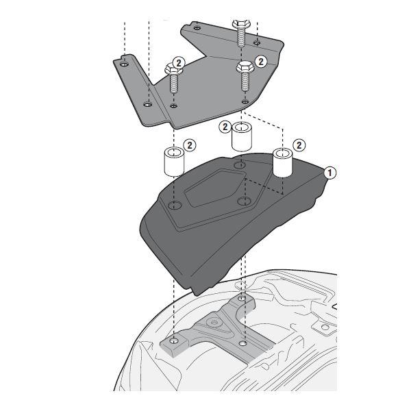GIVI Bevestigingskit special rack SR3104KIT