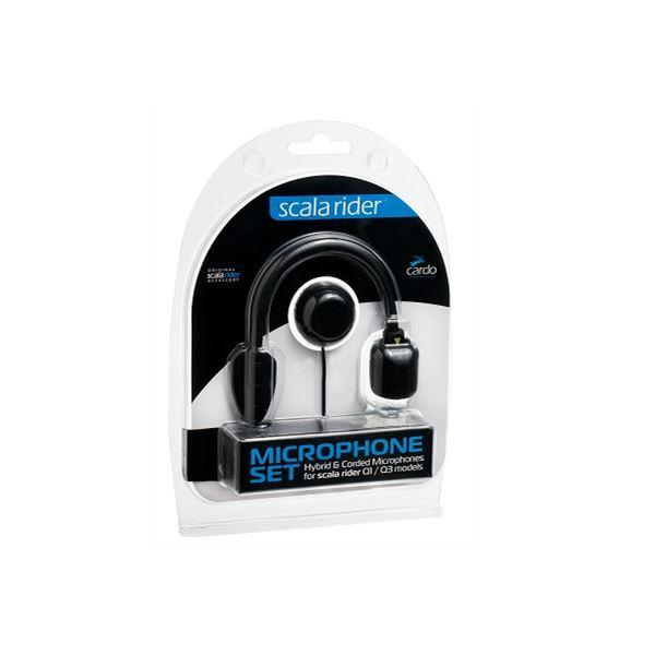 CARDO Microfoon Q-1 / Q-3 / Qz. Set van staaf- en draadmicrofoon