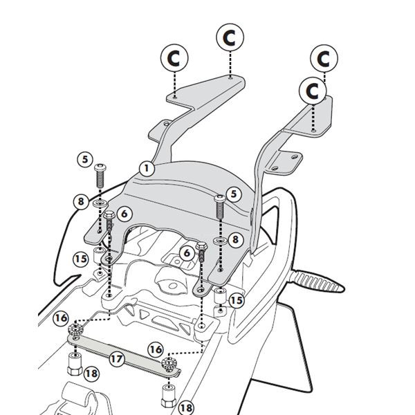 GIVI Topkofferhouder Monolock - SR M SR5100M