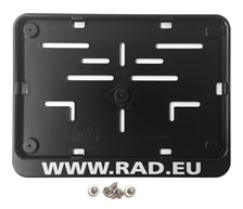 RAD Europese nummerplaathouder Plastiek RAD