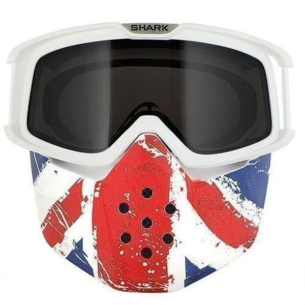 SHARK Drak/Raw Masker en bril Union Jack