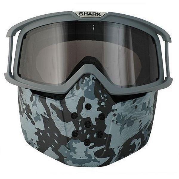 SHARK Drak/Raw Masque et lunettes Camo