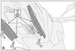 GIVI Kit 'sans support top case' PLR/PLX(R)