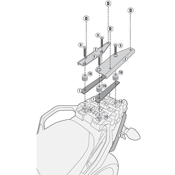 GIVI Topkofferhouder Monolock - SR M SR3105M