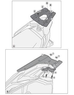 GIVI Topkofferhouder Monolock - SR