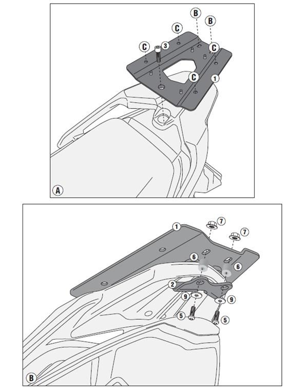 GIVI Topkofferhouder Monolock - SR SR6105