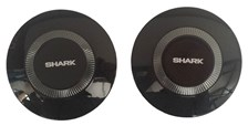 SHARK Drak/Raw Laterale covers (links + rechts) Blinkend zwart BLK