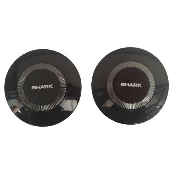 SHARK Drak/Raw Laterale covers (links + rechts) Blinkend zwart BLK