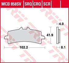 TRW Plaquettes de frein SCR MCB858SCR